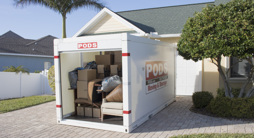 a PODS portable storage container is a flexible storage option