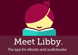 """Libby Logo with """"Meet Libby"""" in white text"""