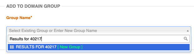 create a domain group in authoritylabs