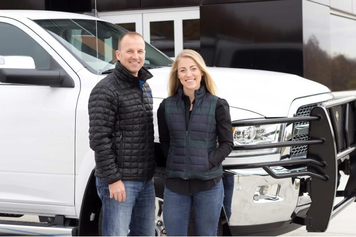 Rob and Adriene of PTR with Truck