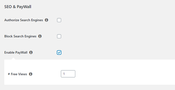 choosing free views per user in memberpress