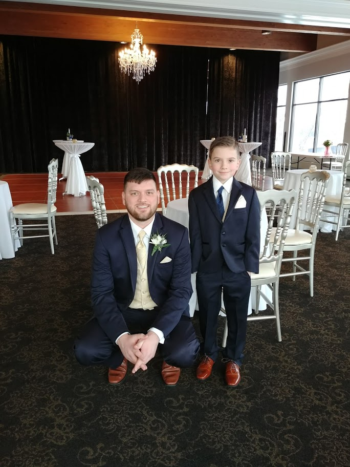 My son and his birth father at his birth father's wedding