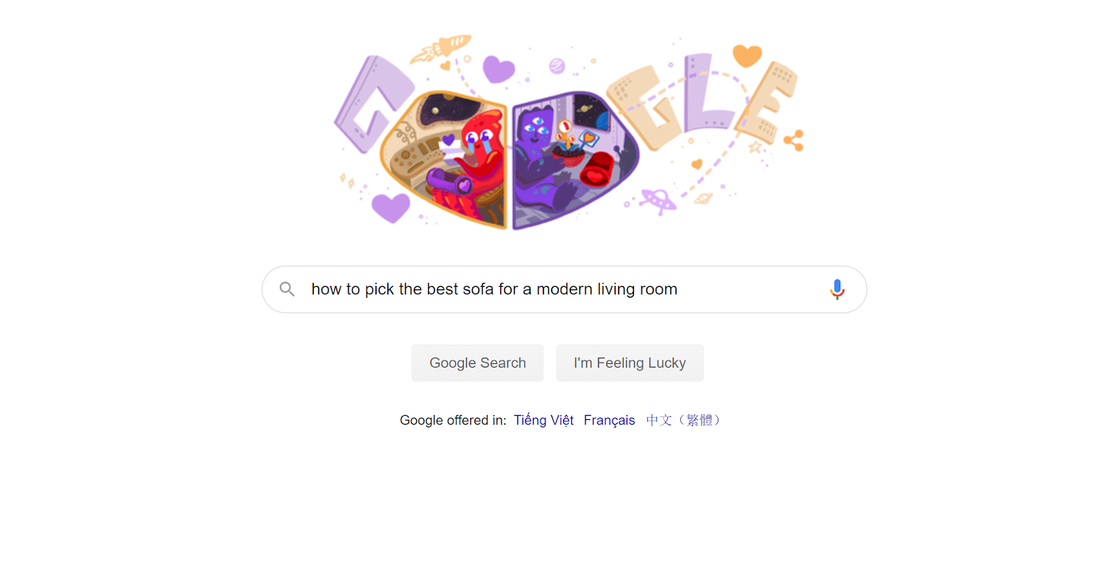 example of google search 2