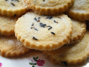 Shortbread culinary dried lavender