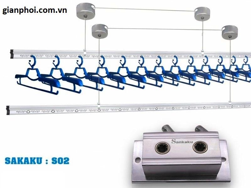 Giàn phơi  đồ thông minh nhập khẩu Sankaku S02 Model 2019