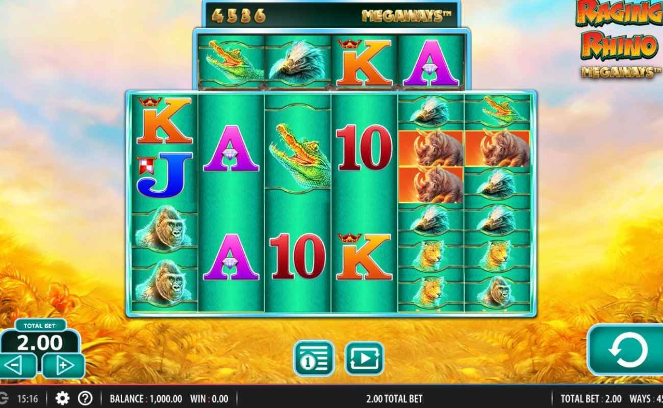 Raging Rhinos Megaways by NYX online slot casino game