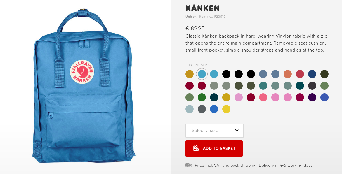 Fjallraven product copy example