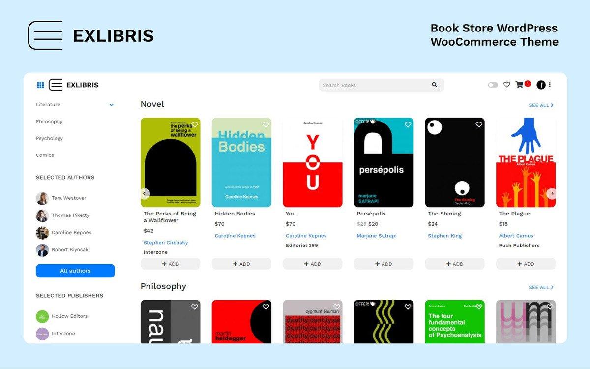 Fastest WooCommerce themes - Exlibris