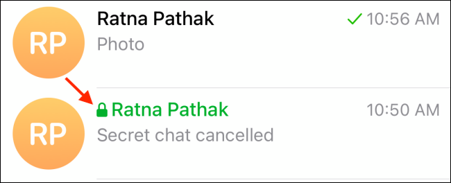 A secret chat vs a not encrypted chat
