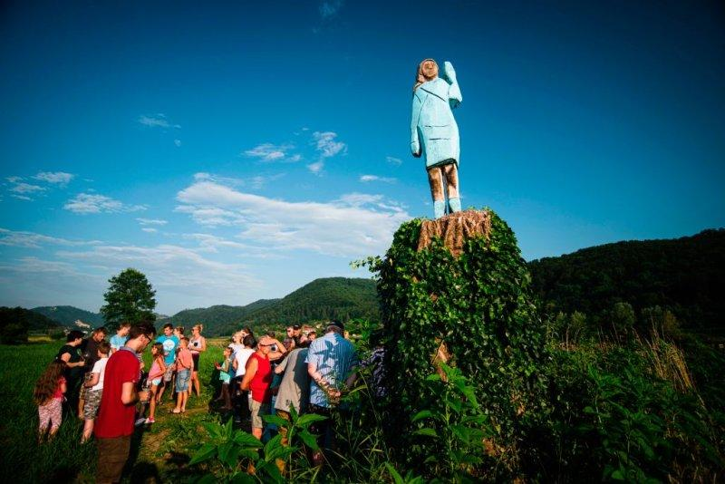 Description: Image result for melania trump statue in her hometown