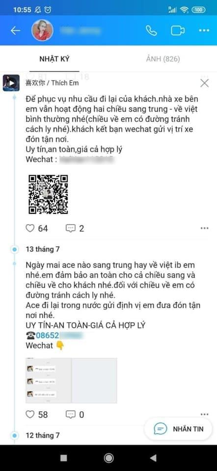 Sau ca nghi nhiễm ở Đà Nẵng, phát hiện nhiều đường dây vận chuyển khách lậu Trung - Việt - Ảnh 2