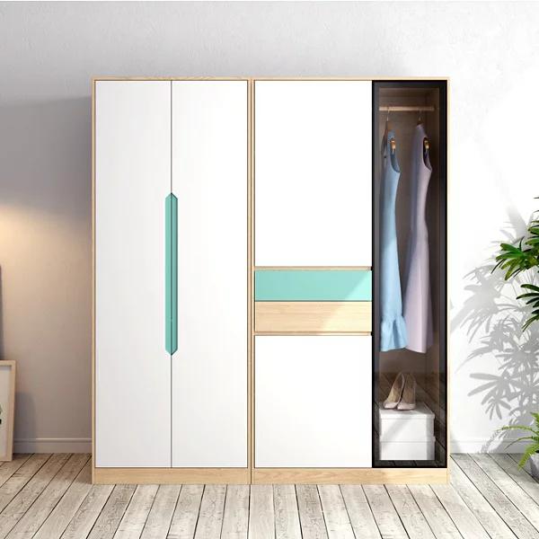 Tủ quần áo gia đình bằng gỗ công nghiệp đẹp hiện đại GHS-5764