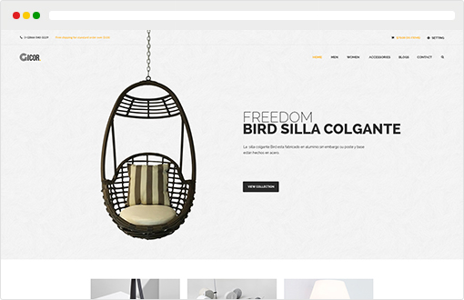 Opencart furniture theme Glory