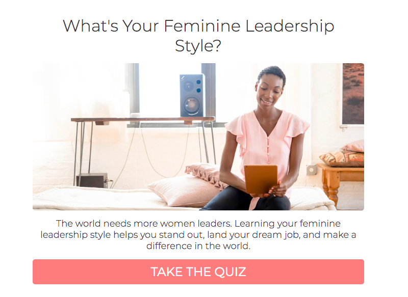 What's your feminine leadership style quiz cover