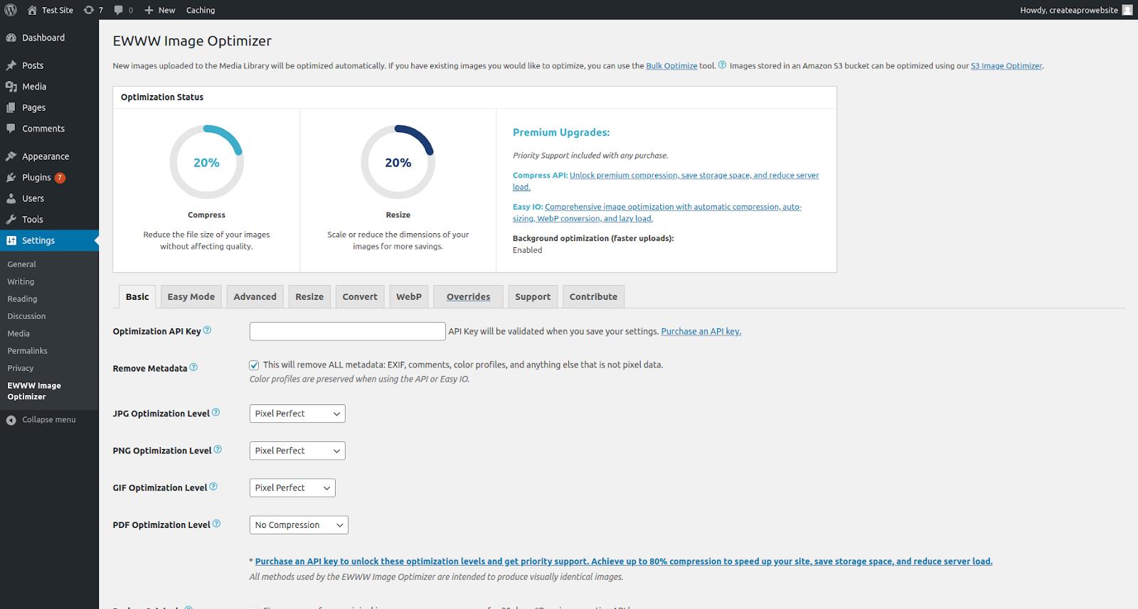 ewww wordpress optimization plugins features