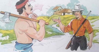 डरपोक शिकारी`short moral story in hindi for class 1