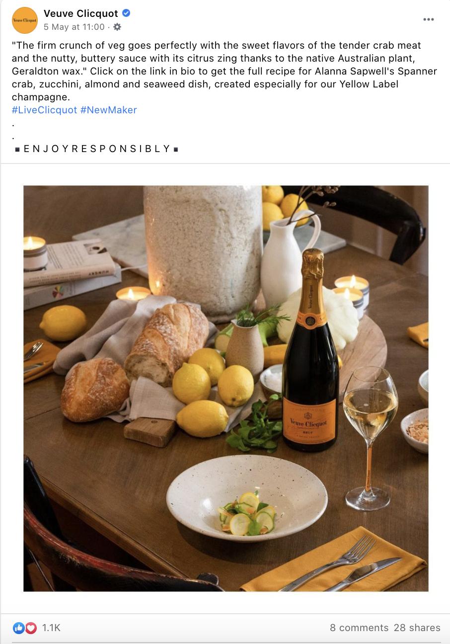 Luxury Drink Brand Facebook Image Example
