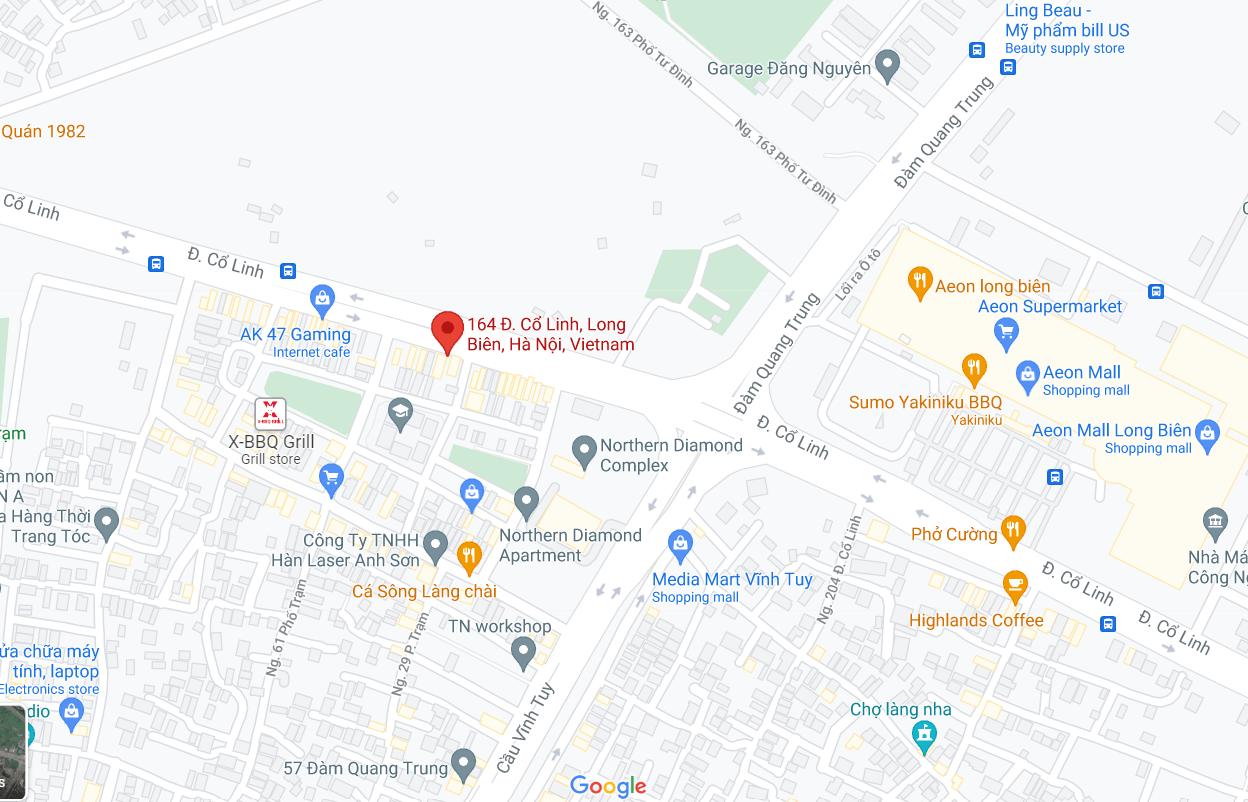 Điểm đón/trả khách tại Hà Nội