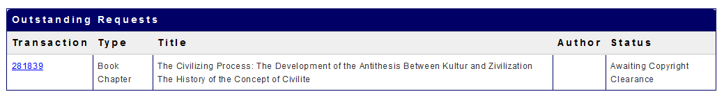 A sample Interlibrary Loan request is shown.