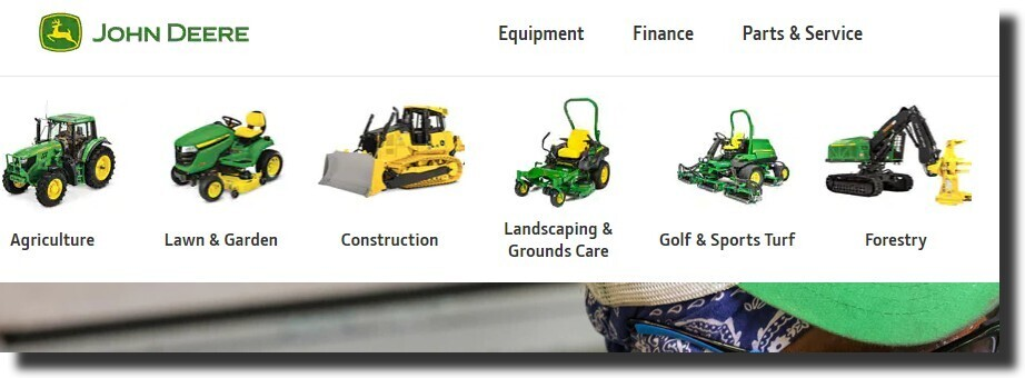 John Deere popular manufacturing brand