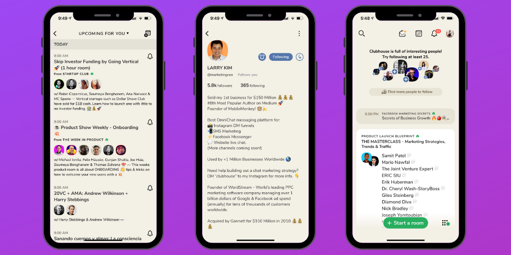 Clubhouse social network app