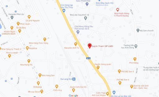 Địa chỉ Văn phòng nhà xe Quỳnh Thanh Vip Limo tại Lạng Sơn