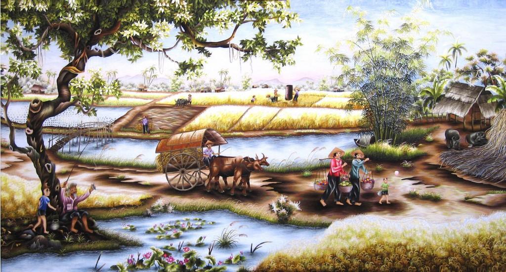 Những bức tranh vẽ phong cảnh quê hương Việt Nam đẹp nhất