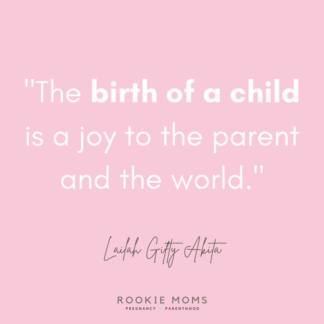 Birth Quotes - Text Quote Laila Gifty Akita