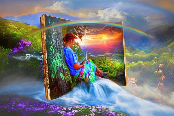 Becoming Creative Wall Art - Photograph - Becoming Part of the Story Painting by Debra and Dave Vanderlaan