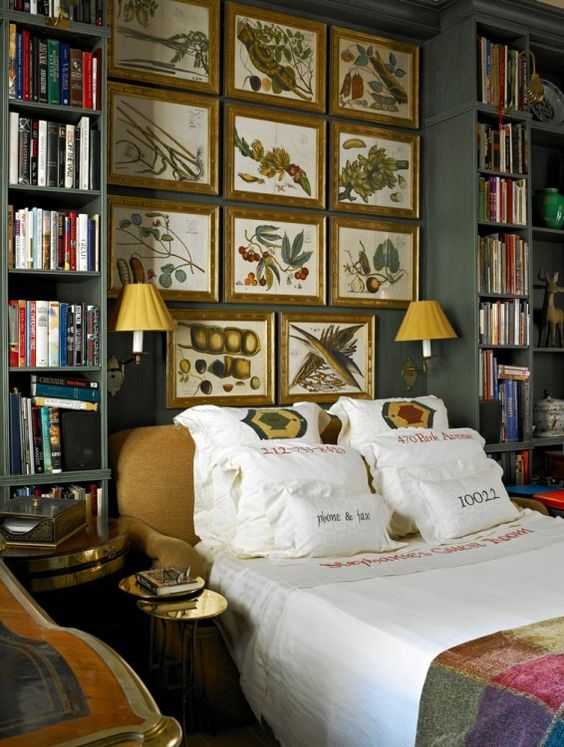 Art Prints in Bedding and Above Bed