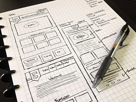 web design sketch