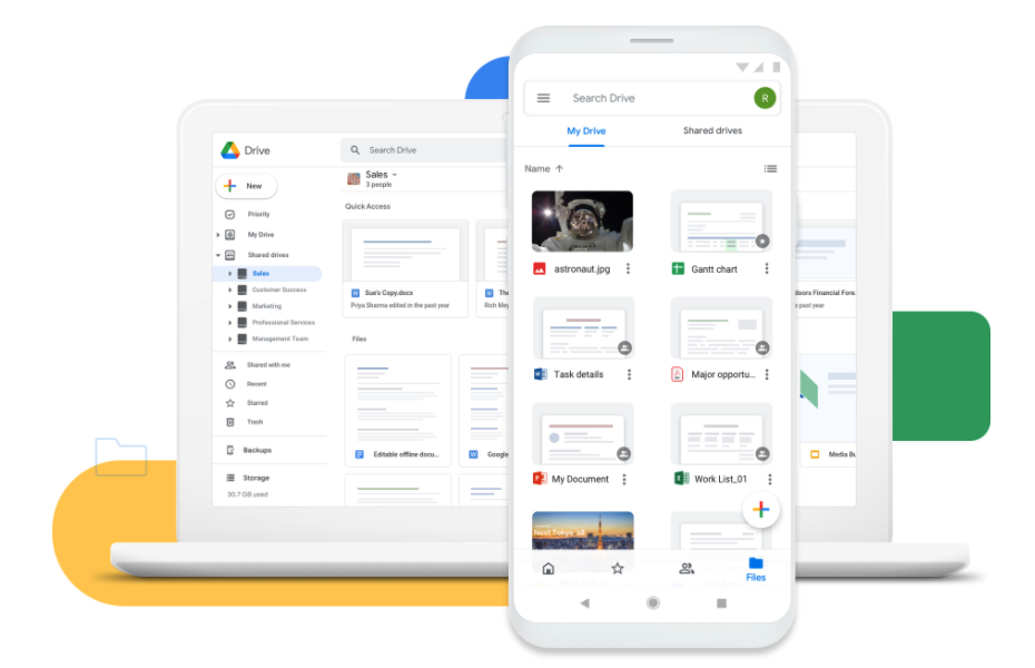 Google Drive app for productivity and time management