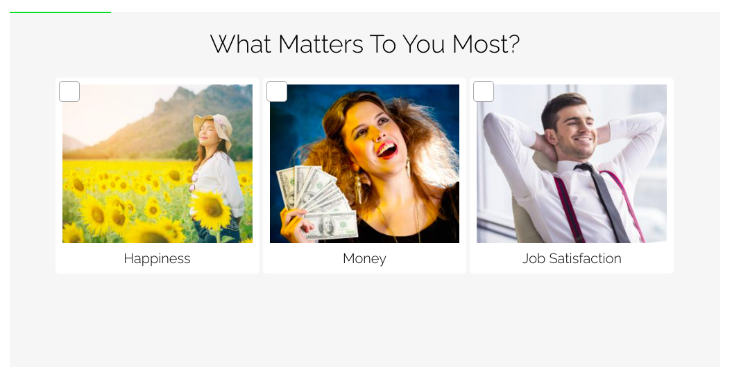 what matters most question with images