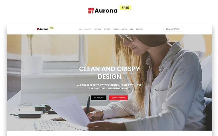 лучший бесплатный шаблон темы ботстрапа веб-сайт бизнес решение офис