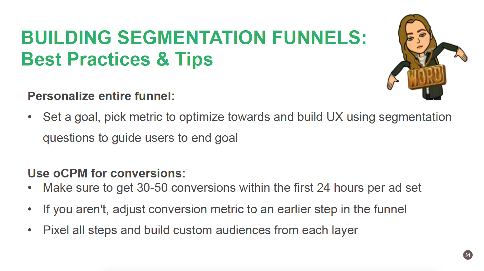 Mirella Crespi – Building Segmentation Funnels - Best Practices and Tips