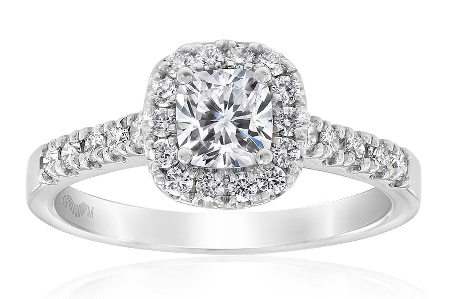 Aura Cushion Cut Diamond Ring