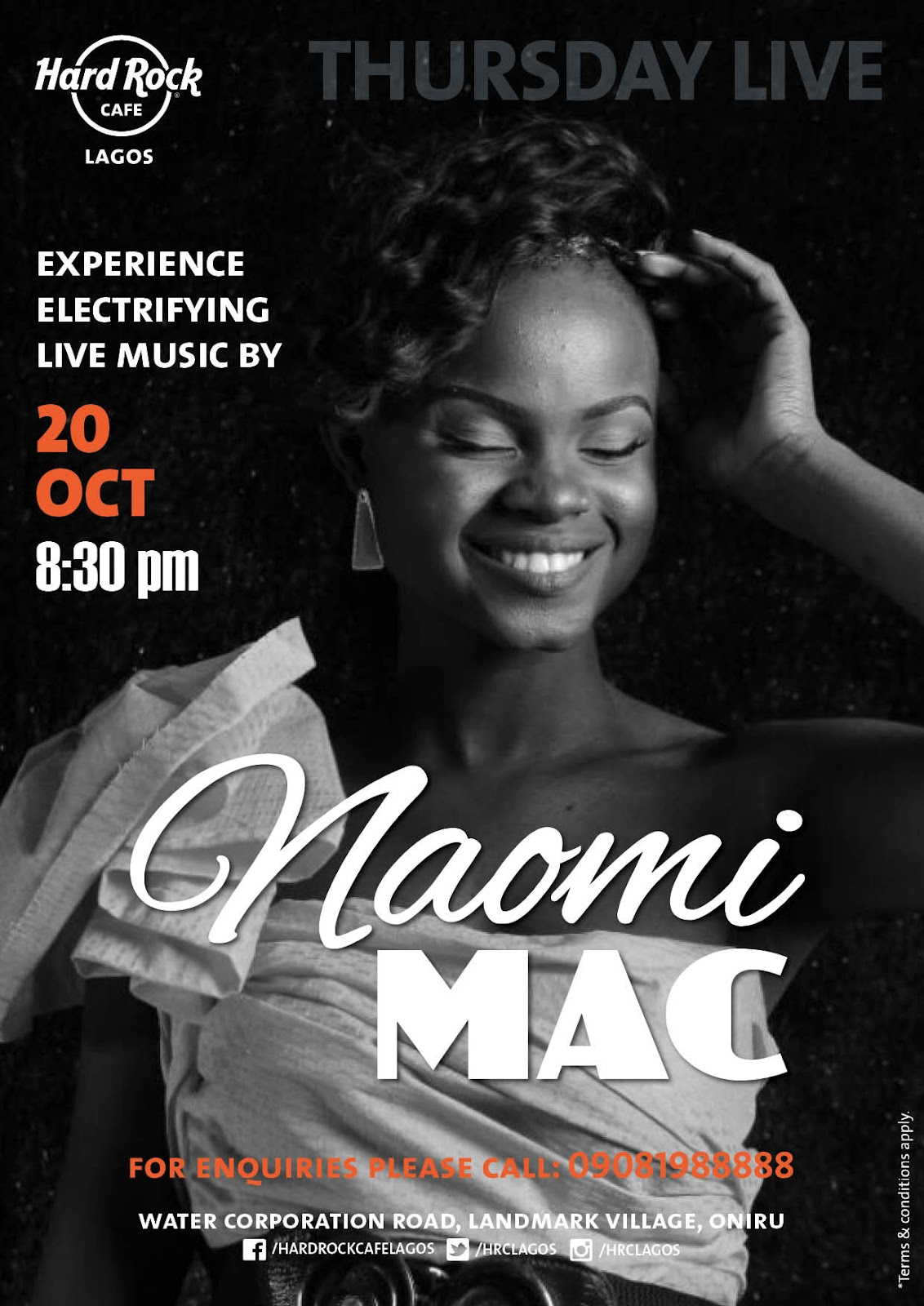 Naomi Mac To Perform Live at Hard Rock Cafe