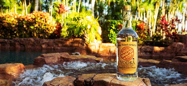 A Bottle Of Mr. Tom's Sugar Free Vodka