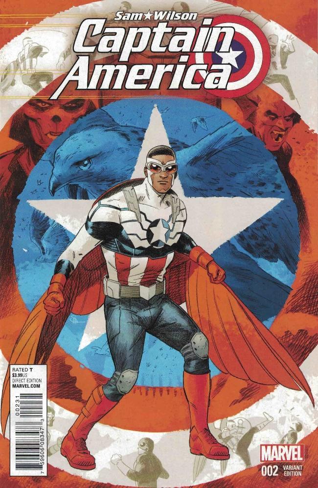 Captain America Sam Wilson #2 1:25 Doc Shaner Variant Marvel 2015 -  Ultimate Comics