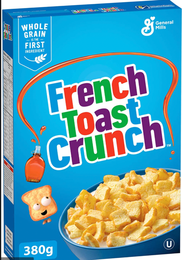 A box of cereal  Description automatically generated with medium confidence