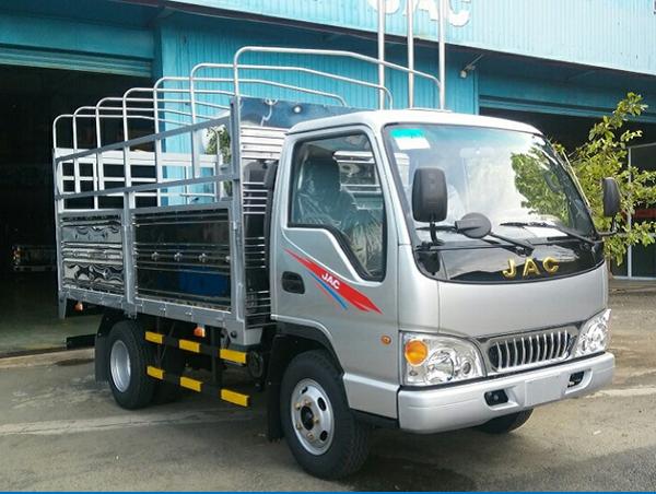 Xe tải jac 2,4 tấn tổng tải trọng dưới 5 tấn vô thành phố - jac 2,4 tấn thùng bạt Xe tải jac 2,4 tấn