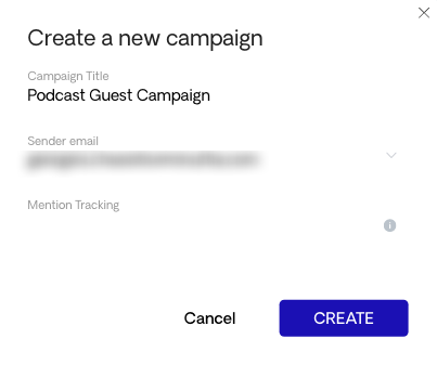 Creating a campaign in Respona