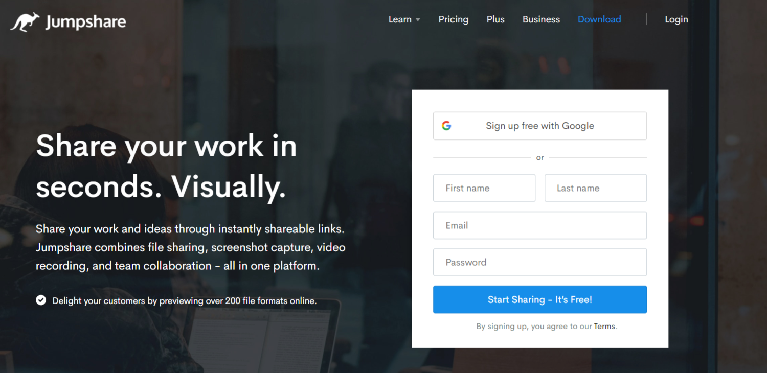 Jumpshare: File sharing site