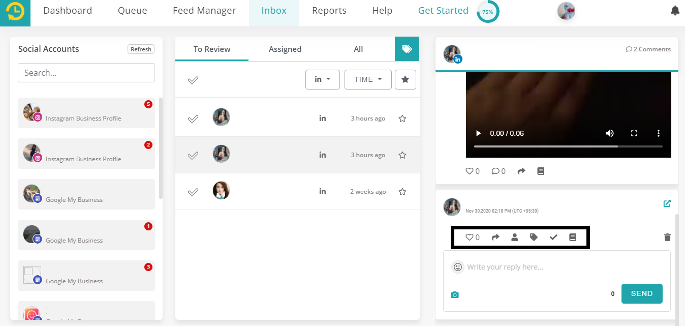 linkedin company pages for social inbox by recurpost as best social media scheduling tool