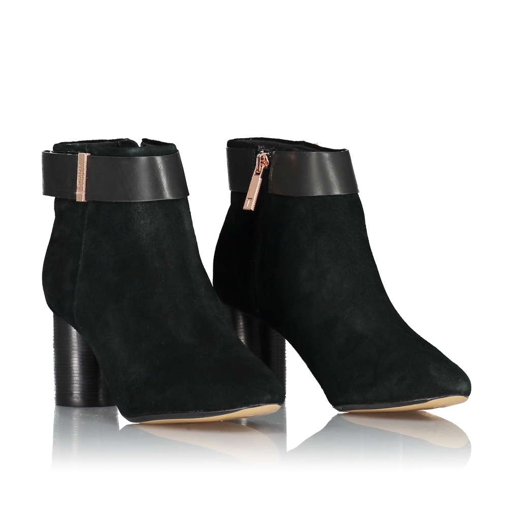 TED BAKER Mharia Circular Heel Ankle Boots