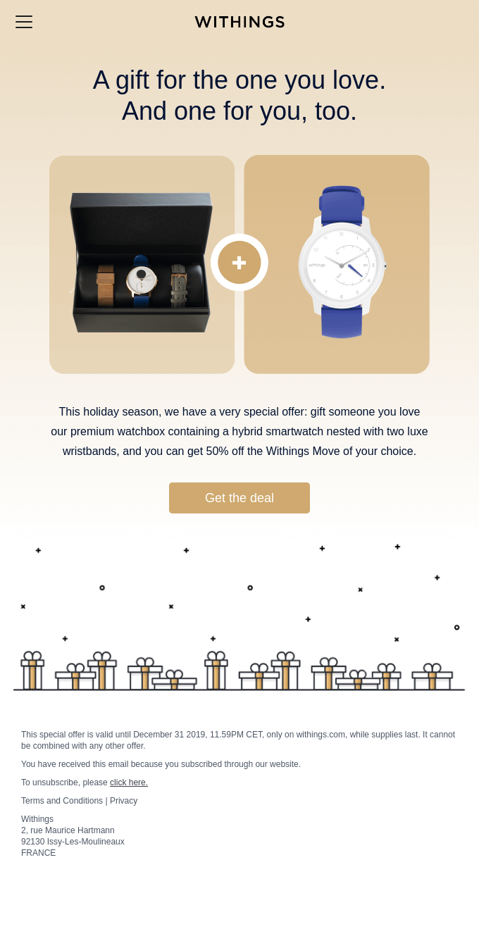 Withings email sample