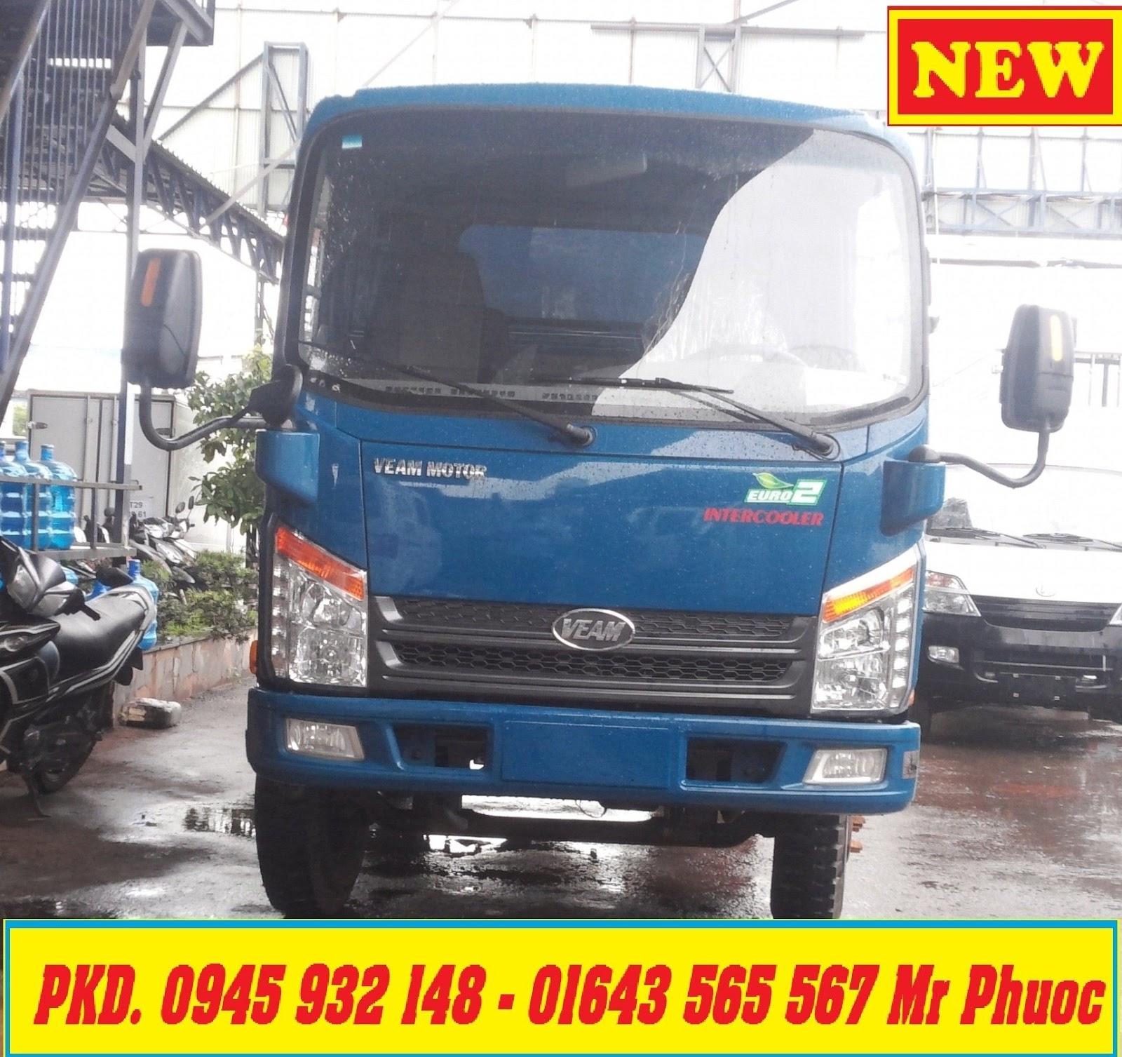xe VEAM BEN 2 tấn động cơ HYUNDAI, xe BEN VEAM VB200 2 tấn có máy lạnh