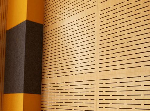 Vách tiêu âm gỗ cho không gian hội trường