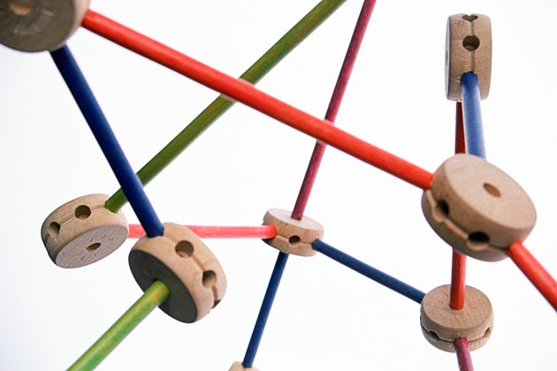 Tinker toys connected