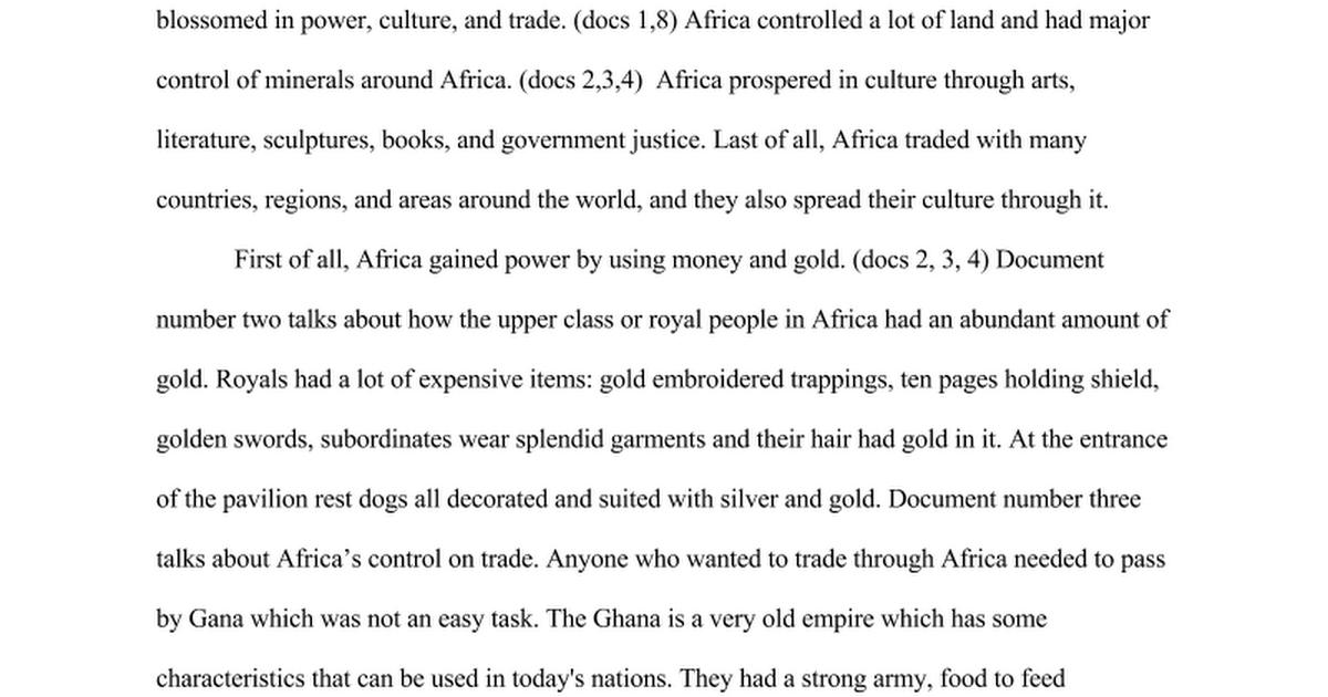 africa before european arrival essay